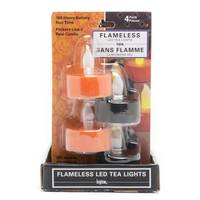 Inglow Black & Orange Halloween Tea Lights - 4 Pack from Blain's Farm and Fleet