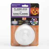 Inglow Halloween Jumbo Color Changing Tea Light from Blain's Farm and Fleet