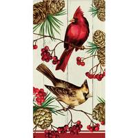 Creative Converting Winter Cardinal 3 Ply Guest Towels from Blain's Farm and Fleet