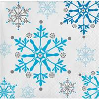 Creative Converting Snowflake Swirls Beverage Napkins from Blain's Farm and Fleet