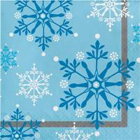 Creative Converting Snowflake Swirls Luncheon Napkins from Blain's Farm and Fleet