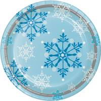 Creative Converting Snowflake Swirls Dinner Plates from Blain's Farm and Fleet
