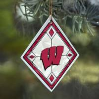 The Memory Company Wisconsin Badgers Art Glass Ornament from Blain's Farm and Fleet