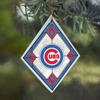 The Memory Company Chicago Cubs Art Glass Ornament from Blain's Farm and Fleet