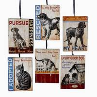 Kurt S. Adler Wooden Pet Rescue Ornament Assortment from Blain's Farm and Fleet