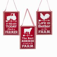 Kurt S. Adler Vintage Farm Sayings Ornament Assortment from Blain's Farm and Fleet