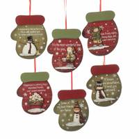 Kurt S. Adler Wooden Mitten Ornament Assortment from Blain's Farm and Fleet