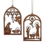 Kurt S. Adler Brown Wood Nativity Ornament Assortment from Blain's Farm and Fleet