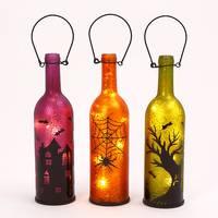 Gerson International Battery Operated Lighted Halloween Mercury Glass Bottle Assortment from Blain's Farm and Fleet