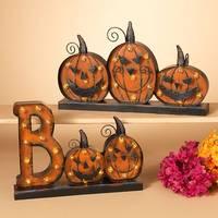 Gerson International Battery Operated Lighted Metal Halloween Pumpkin Assortment from Blain's Farm and Fleet