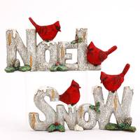 Gerson International Resin NOEL or SNOW Cardinal Sign Assortment from Blain's Farm and Fleet