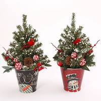 Gerson International Holiday Tree in Snowman Container Assortment from Blain's Farm and Fleet