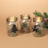 Gerson International Holiday Mason Jar Accents Assortment from Blain's Farm and Fleet