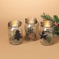 Gerson International Holiday Mason Jar Accents Assortment from Blain's Farm and Fleet
