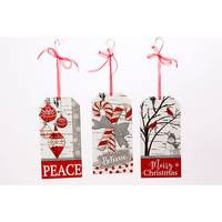 Gerson International Wood Holiday Message Hanging Sign Assortment from Blain's Farm and Fleet