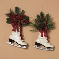 Gerson International Resin Floral Holiday Skate Assortment from Blain's Farm and Fleet