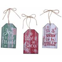 Transpac Imports Inc. Holiday Sign Ornament Assortment from Blain's Farm and Fleet