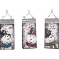 Transpac Imports Inc. Nostalgic Snowman Tag Wall Decor Assortment from Blain's Farm and Fleet
