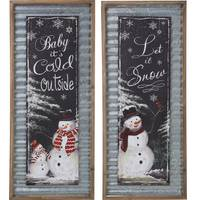 Transpac Imports Inc. Wood & Metal Snowman Wall Art Assortment from Blain's Farm and Fleet