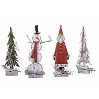 Transpac Imports Inc. Wood Rustic Holiday Figure Assortment from Blain's Farm and Fleet