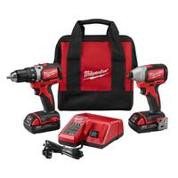 Milwaukee M18 Compact Brushless Drill/Brushless Impact Combo Kit from Blain's Farm and Fleet