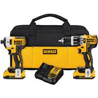 DEWALT 20V MAX XR Lithium-Ion Brushless Compact Hammerdrill & Impact Driver Combo Kit from Blain's Farm and Fleet
