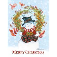 LPG Greetings Snowman's Wreath Christmas Cards from Blain's Farm and Fleet