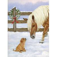 LPG Greetings Making Friends Christmas Cards from Blain's Farm and Fleet