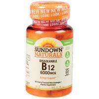 Sundown Naturals Dissolvable B12 Microlozenges-6000 mcg from Blain's Farm and Fleet