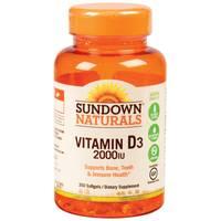 Sundown Naturals Vitamin D3 Softgels-2000 IU from Blain's Farm and Fleet