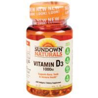 Sundown Naturals Vitamin D3- 1000 IU-200 Softgels from Blain's Farm and Fleet