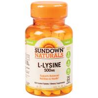 Sundown Naturals L-Lysine Tablets - 500mg from Blain's Farm and Fleet