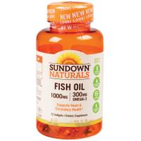 Sundown Naturals Fish Oil-1000 mg-72 Softgels from Blain's Farm and Fleet