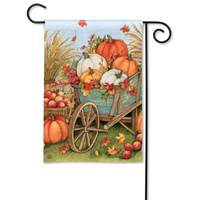 Studio M BreezeArt Pum-Packin Wagon Garden Flag from Blain's Farm and Fleet