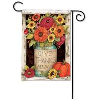 BreezeArt Fall Mason Jars Garden Flag from Blain's Farm and Fleet