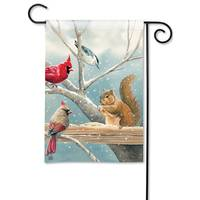 BreezeArt Winter Snack Time Garden Flag from Blain's Farm and Fleet