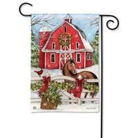 BreezeArt Christmas on the Farm Garden Flag from Blain's Farm and Fleet