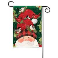 BreezeArt Lumberjack Santa Garden Flag from Blain's Farm and Fleet