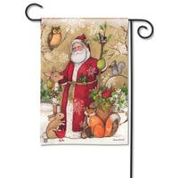 BreezeArt Woodland Santa Garden Flag from Blain's Farm and Fleet