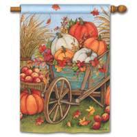 BreezeArt Pumpkin Wagon Standard Flag from Blain's Farm and Fleet