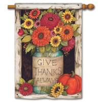 BreezeArt Fall Mason Jars Standard Flag from Blain's Farm and Fleet