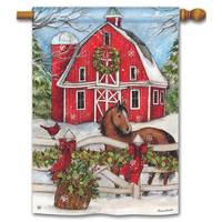BreezeArt Christmas on the Farm Standard Flag from Blain's Farm and Fleet