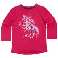 Carhartt Toddler Girls' Pink Long Sleeve Rise and Ride Tee from Blain's Farm and Fleet