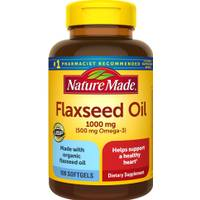 Nature Made 1000 mg Flaxseed Oil Liquid Softgels from Blain's Farm and Fleet