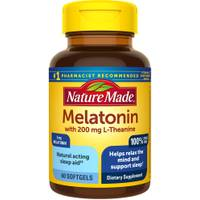 Nature Made Melatonin + L-theanine  Softgels from Blain's Farm and Fleet
