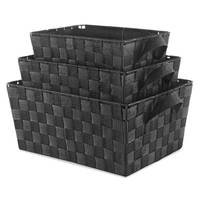 Whitmor 3-Piece Black Woven Strap Storage Baskets from Blain's Farm and Fleet