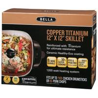 Bella Copper Titanium Electric Skillet from Blain's Farm and Fleet