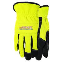 MidWest Gloves Men's High Visibility  Leather Palm Spandex Gloves from Blain's Farm and Fleet