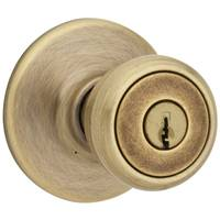 Kwikset Tylo Keyed Entry Knob in Antique Brass from Blain's Farm and Fleet
