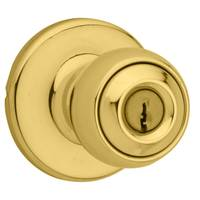 Kwikset Polo Keyed Entry Knob in Polished Brass from Blain's Farm and Fleet